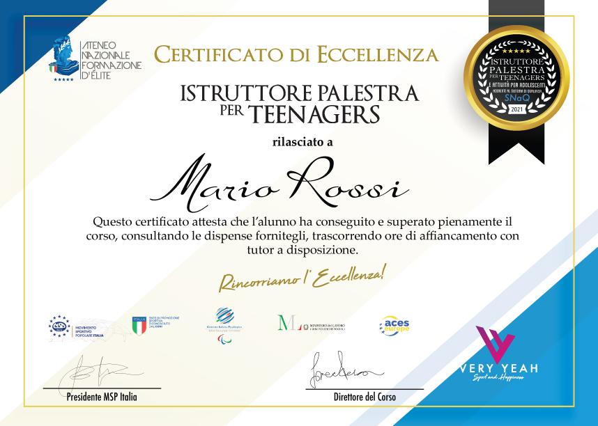 certificatoteen